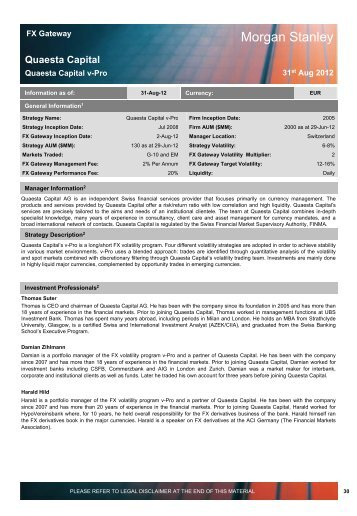 Morgan Stanley - Quaesta Capital AG