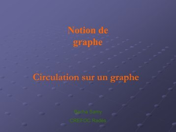 CIrculation sur un graphe