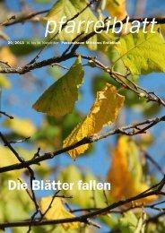 Pfarreiblatt 20/2013 - Pastoralraum Mittleres Entlebuch >Willkommen