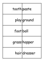 Compound Words Matching Cards - First School Years