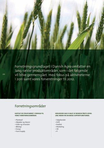 Forretningsgrundlaget i Danish Agro omfatter en lang række ...