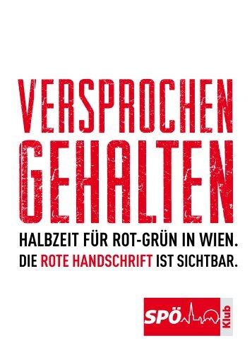 Versprochen gehalten - Halbzeit für Rot-Grün in ... - SPÖ Rathausklub