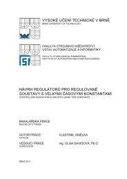 vysoké učení technické v brně návrh regulátorů pro regulované ...