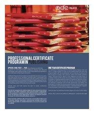 Professional Certificate Program in Publishing - Carroll University