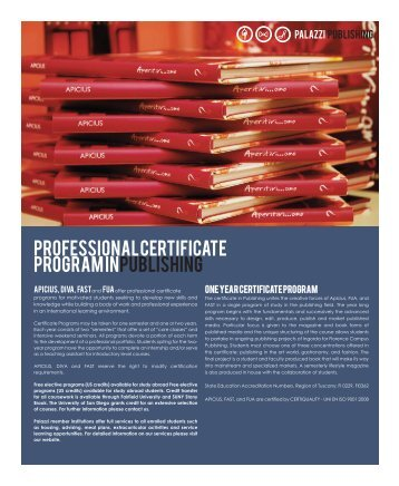 Professional Certificate Program in Publishing - Carroll University