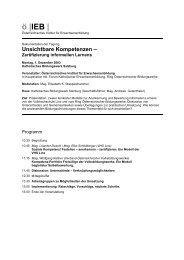 Zusammenfassung der Tagung (pdf-Datei, 127KB)