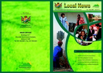 Local Newsletter - Co-operative Governance and Traditional Affairs
