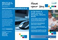 Have Your Say flyer - Royal Shrewsbury Hospitals NHS Trust