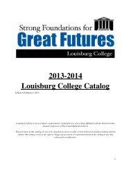 2013-2014 Louisburg College Catalog