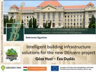 Intelligent building infrastructure solutions for the new DEnzero project