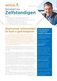 Nieuwsbrief voor Zelfstandigen nr. 68 – oktober 2011 - Xerius