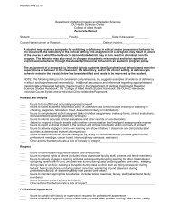Zero Grade Form - College of Allied Health