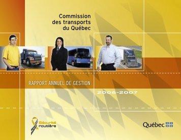 Le rapport annuel 2006-2007 - Commission des transports du Québec