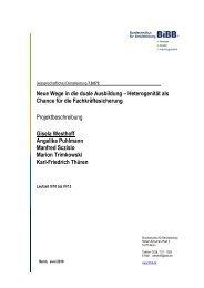 Neue Wege in die duale Ausbildung – Heterogenität als ... - BiBB