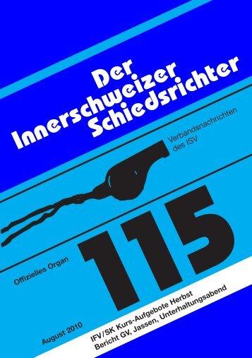 Der Innerschweizer Schiedsrichter