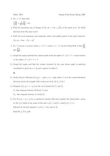 questions for exam 3 Sample short answer questions – exam 3 cognitive psychology – psyc325 please find the sample exam questions for the third exam (available through web-ct from.