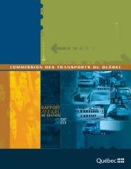 Le rapport annuel 2002-2003 - Commission des transports du Québec