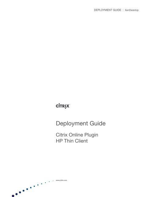 HP Thin Client (Linux) - Citrix