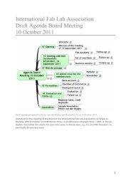 Minutes board meeting 10 October 2011 - International Fab Lab ...