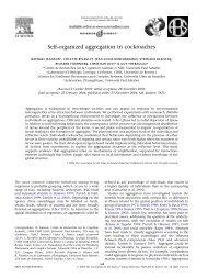 Self-organized aggregation in cockroaches - Centre de Recherches ...