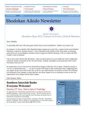 Shodokan Newsletter 63 - June 2012 COMPLETE - Sport Aikido GB ...