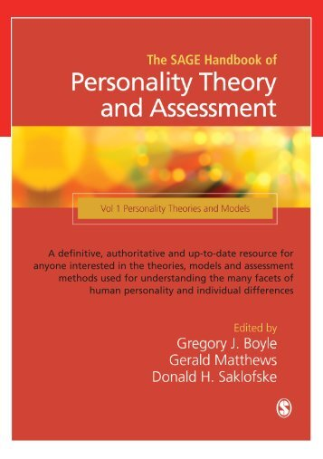 The SAGE Handbook of Personality Theory and ... - Psychology