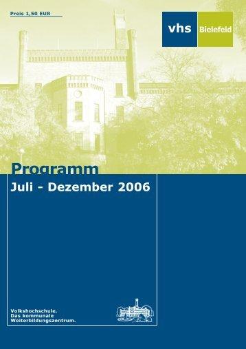 Dezember 2006 - Volkshochschule Bielefeld
