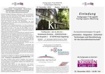 Einladung IT & Log - Logistik Initiative Schleswig-Holstein