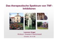 Das therapeutische Spektrum von TNF- Inhibitoren2 - (GFID) eV