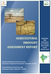 agricultural drought assessment report - Bhuvan - National Remote ...