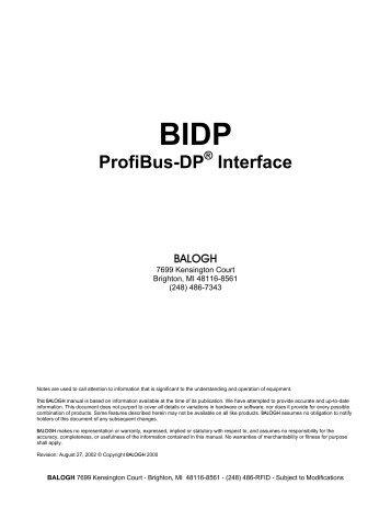 BIDP ProfiBus-DP ® Interface - Anixandra