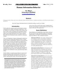 Human Information Behavior - Informing Science