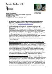 Termine im Oktober als pdf - Nationalpark Steigerwald