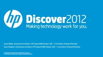 CI Architect - HP Discover Online - Hewlett Packard