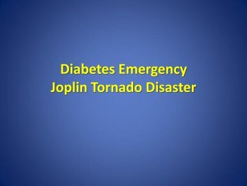 Diabetes Emergency Joplin Tornado Disaster