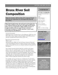 Bronx River Soil Composition - Bronx River Alliance