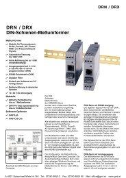 DRN / DRX DIN-Schienen-Meßumformer
