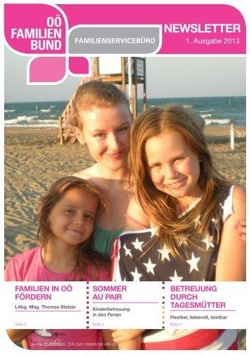Newsletter_Ausgabe_1-2013 - OÖ Familienbund