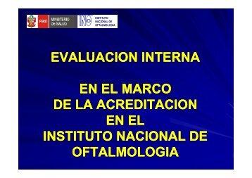 ACREDITACION - Instituto Nacional de Oftalmología