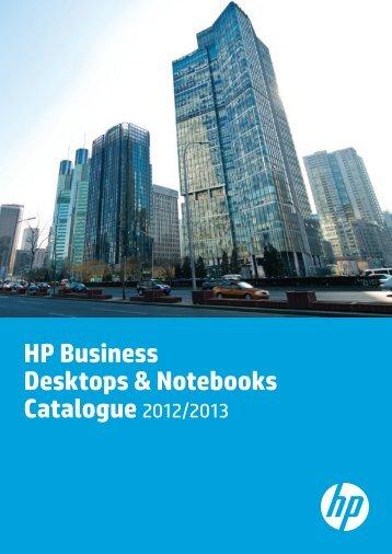 HP Business Desktops & Notebooks Catalogue 2012/2013