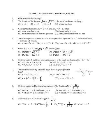 math 116 final exam answers 2017-10-7 final exam practice: part ii math 11100 1  116) 5 16 log m n  give final answers to three decimal places.