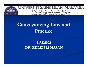 Conveyancing Conveyancing Law and Practice