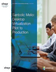 Citrix Solution Brief – Sanbolic Melio