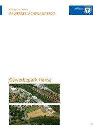 Gewerbepark Hansa - Wirtschaftsförderung Dortmund