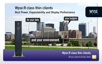 Wyse R class thin clients - Arcy Solutions, Inc.
