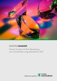 Ausschreibung STARTFELDDiamant 2013