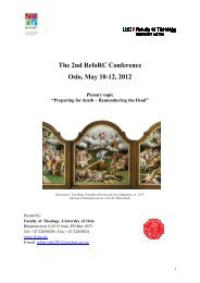 The 2nd RefoRC Conference Oslo, May 10-12, 2012