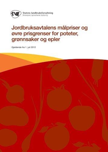 jordbruksavtalens målpriser 2012-2013.pdf - Statens ...