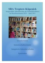 Ausgewählte Jahresberichte der Schulbibliotheken im - Berlin.de