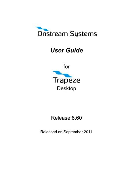 Trapeze Desktop User Guide - To Parent Directory